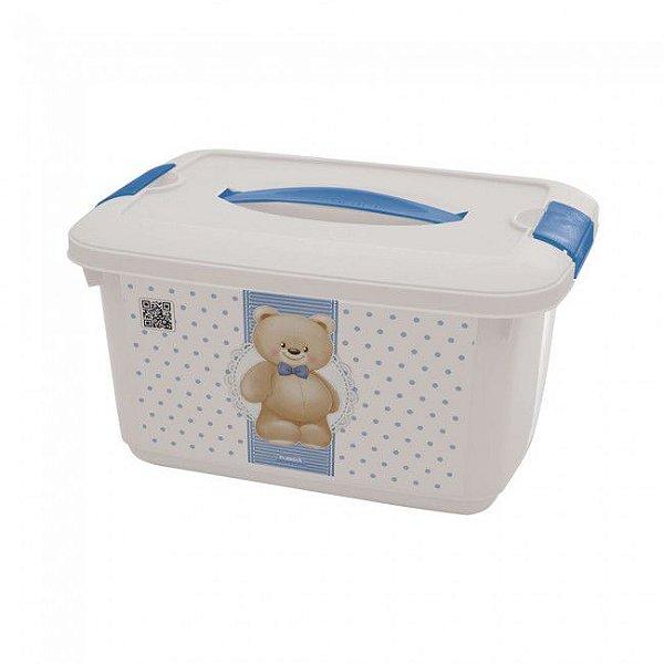 Caixa Organizadora Baby Urso Azul 5,2 Litros 8442 Plasutil