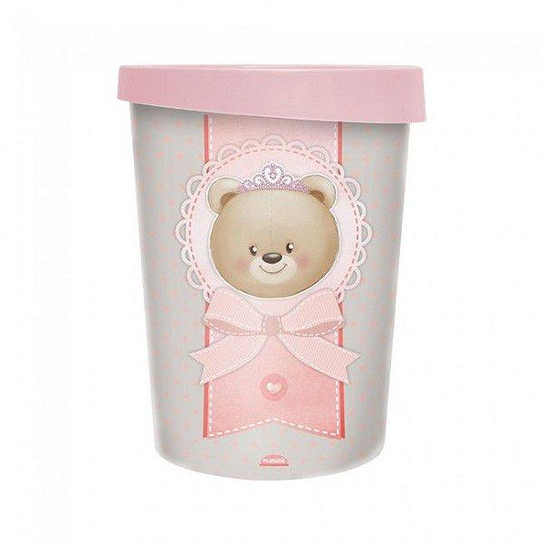 Lixeira Urso Rosa 5,5 Litros 8209 Plasutil