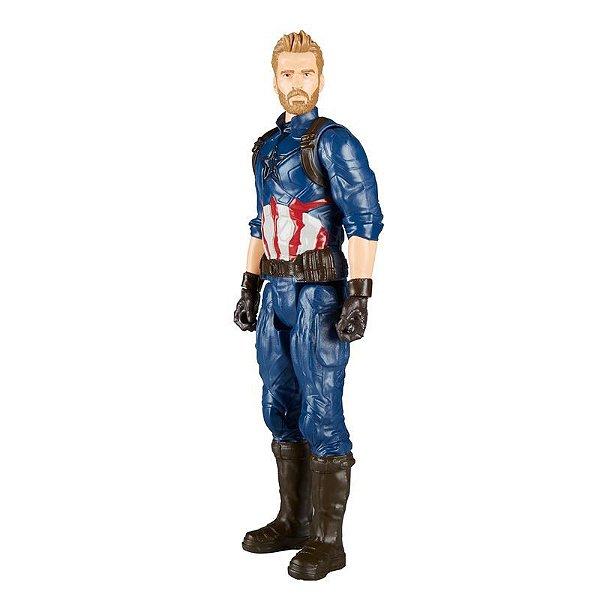 Boneco Avengers Capitao America Power Pack E0607 Hasbro