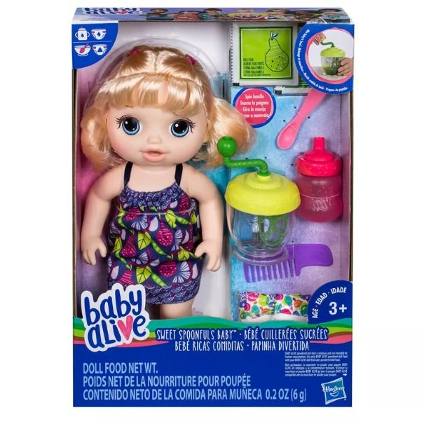 Boneca Baby Alive Papinha Divertida Loira E0586 Hasbro