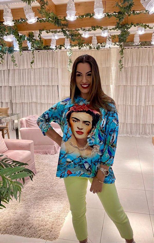 Anemess - Blusa ampla Frida  /  TAMANHO ÚNICO - VESTE DO P AO GG  Ref: 91275