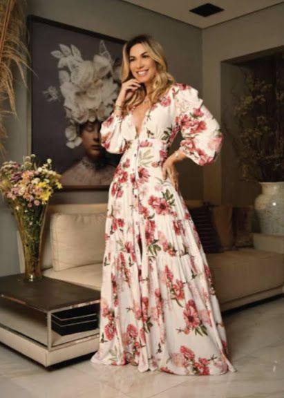 Closet Deluxe _ Vestido longo Floral   ref:2020-423