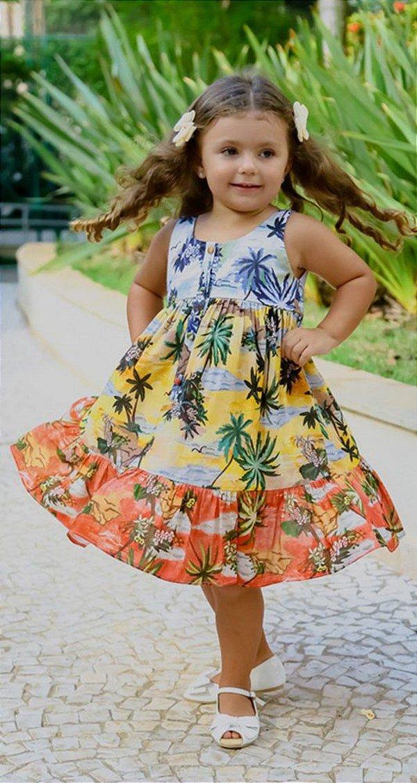 VESTIDO INFANTIL BLESSINHA ALEXANDRINA   RIVIERA FRANCESA Código: KM141445