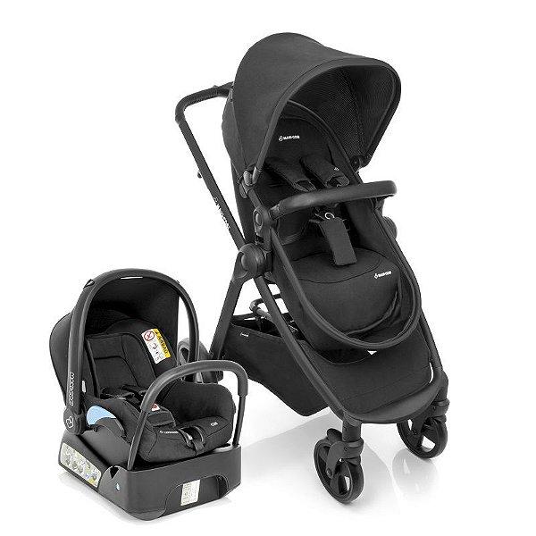 Carrinho de Bebe Conforto Travel System Discovery Maxi-Cosi Black Raven Preto