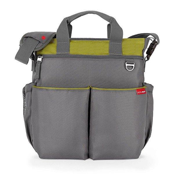 Bolsa Maternidade Diaper Bag Duo Signature Grey Green Charcoal Lime Skip Hop