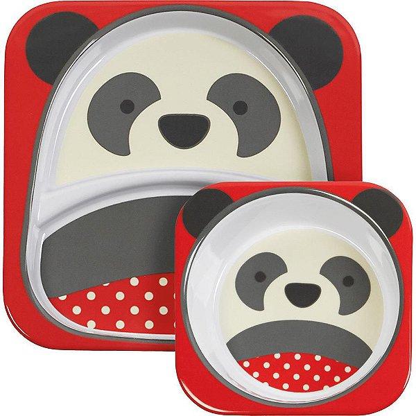 Set de Pratos Skip Hop Linha Zoo Panda