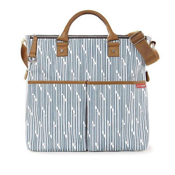 Bolsa Maternidade Diaper Bag Skip Hop Duo Special Edition Blue Print Stripe Azul