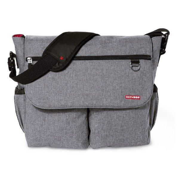 Bolsa Maternidade Skip Hop Diaper Bag Dash Signature Heather Grey