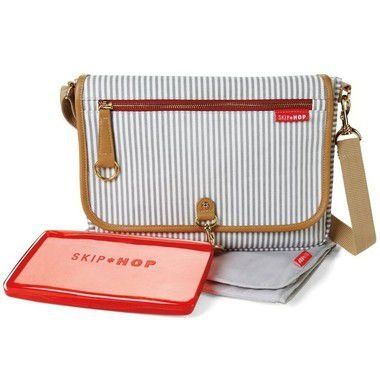 Bolsa Maternidade Skip Hop Diaper Bag Soho Clutch French Stripe