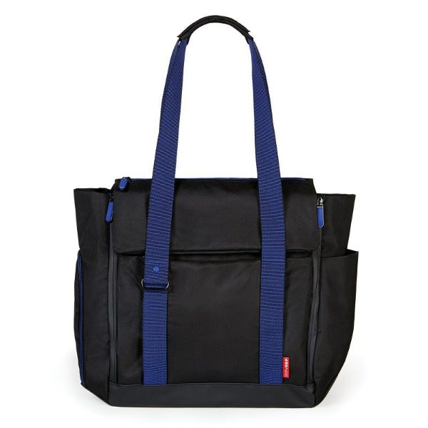 Bolsa Maternidade Skip Hop Diaper Bag Fit All Black Cobalt