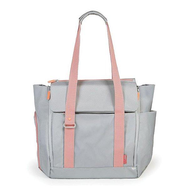 Bolsa Maternidade Skip Hop Diaper Bag Fit All Platinum Coral
