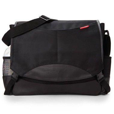 Bolsa Maternidade Diaper Bag Skip Hop Swift Messenger Black Preta