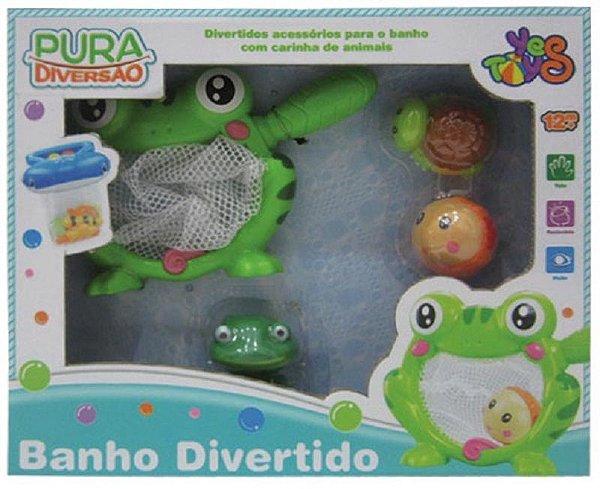 Brinquedo para Banho Divertido  Pura Diversão Sapinho