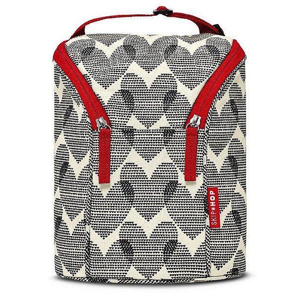 Bolsa Térmica para Mamadeira Double Bottle Bag Skip Hop Hearts Coração
