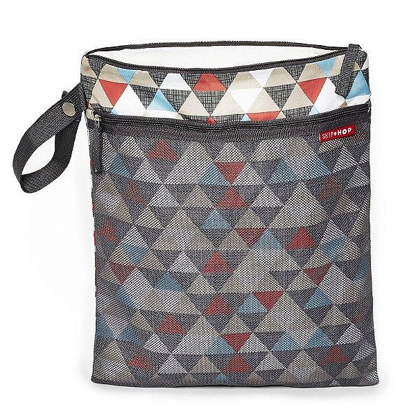 Bolsa Sacola para Roupa Seca ou Molhada (Wet Dry) Skip Hop Triangles Triangulos