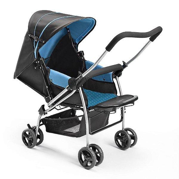 Carrinho de Bebe Berço Flip Multikids Azul