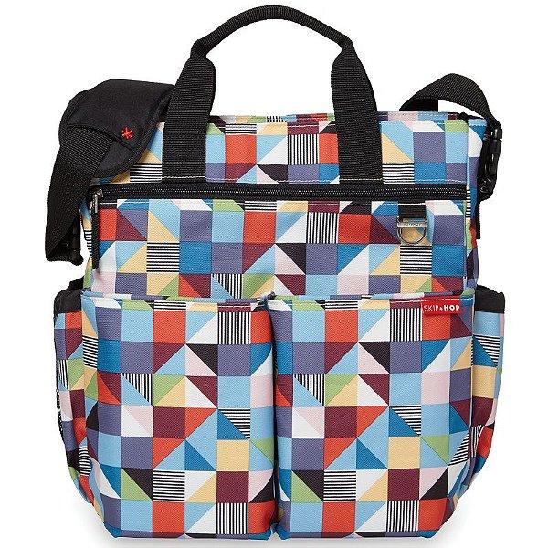 Bolsa Maternidade Diaper Bag Duo Signature Skip Hop Prism Triangulos