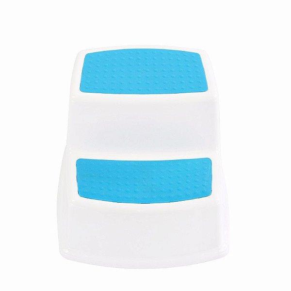 Banquinho para Higiene com 2 Degraus Azul