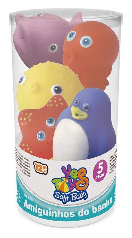 Amiguinhos do Banho - 5 Peças Pinguim e os Amigos