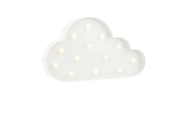 Luminária de Parede Nuvem Branca a Pilha