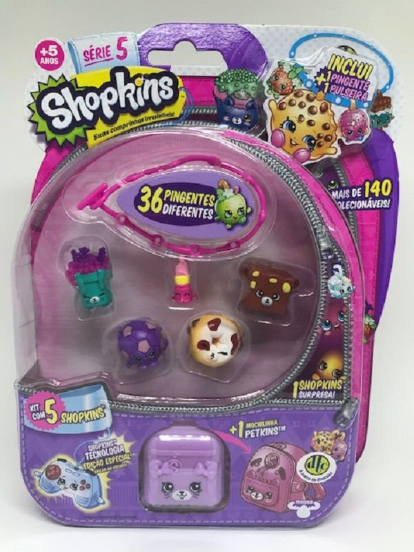 Shopkins Blister com 5 Série 5 - DTC