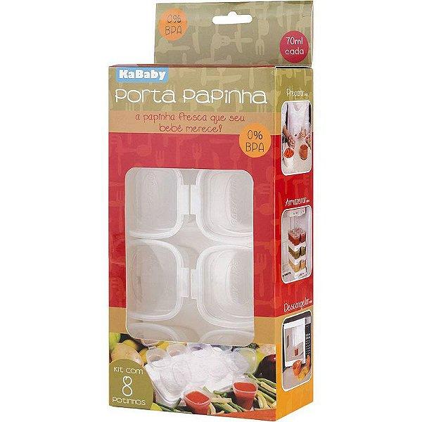 Potes para Armazenar Papinha Kababy - 8 peças