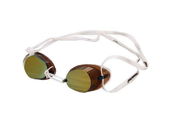 Óculos Para Natação Swedish Pro Espelhado Marrom Hammerhead