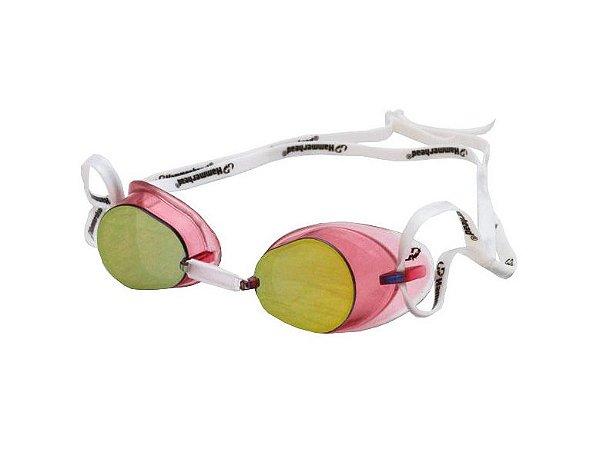 Óculos Para Natação Swedish Pro Espelhado Rosa Hammerhead