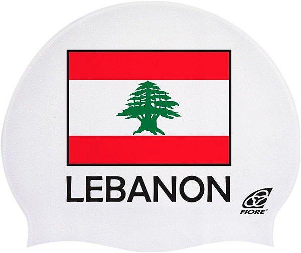 Touca De Silicone Para Natação Bandeira Do Líbano