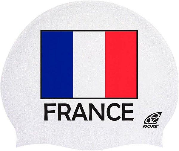 Touca De Silicone Para Natação Bandeira Da França