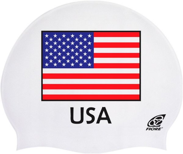 Touca De Silicone Para Natação Bandeira Dos Estados Unidos