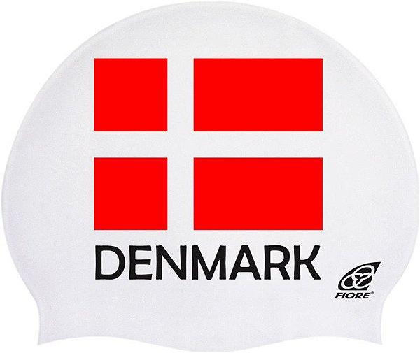 Touca De Silicone Para Natação Bandeira Da Dinamarca