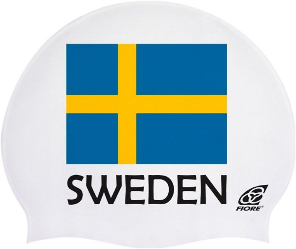 Touca De Silicone Para Natação Bandeira Da Suécia