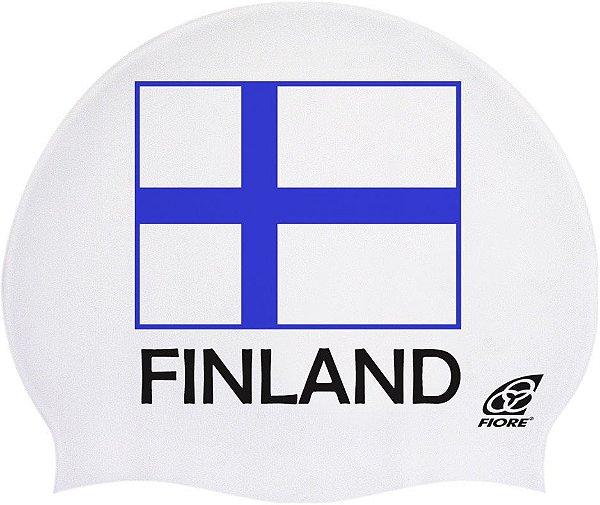 Touca De Silicone Para Natação Bandeira Da Finlândia