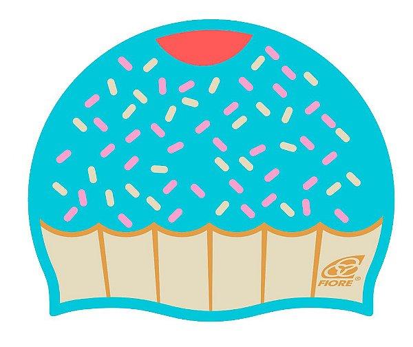 Touca De Silicone Para Natação Fiore Cupcake
