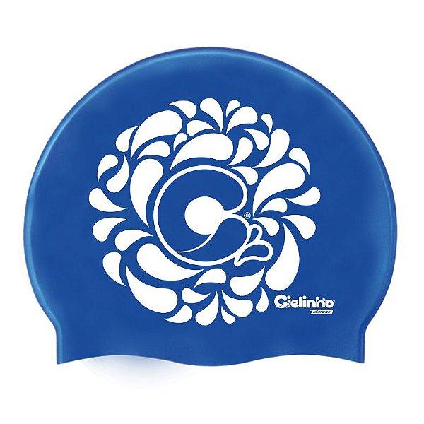 Touca De Silicone Para Natação Logo Water Cielinho