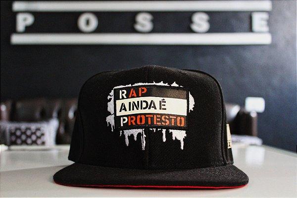 BONÉ RAP AINDA É PROTESTO - DRRPOSSE E BRUNO 4 TEMPOS EDIÇÃO LIMITADA