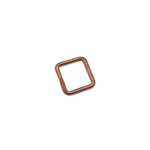 01-0761 - Pacote com 1/2 Kg de Argola em Cobre Quadrada 17mm