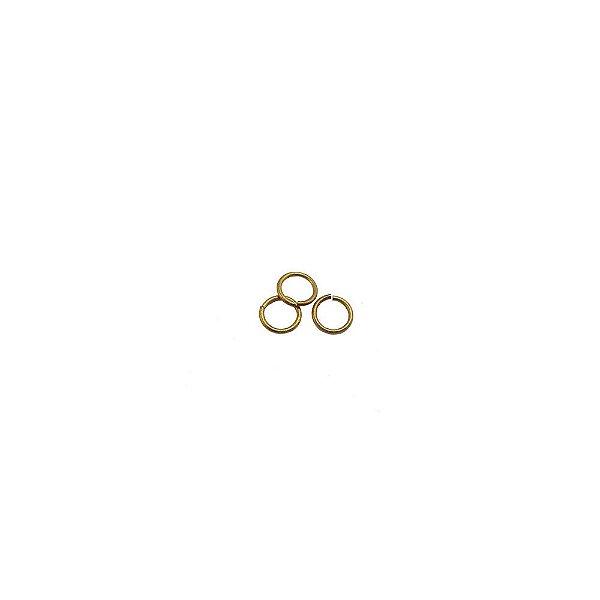 01-0200 - Pacote com 1/2 Kg de Argola em Latão Redonda 4mm