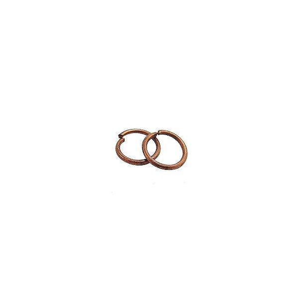 01-0015 - Pacote com 1/2 Kg de Argola em Cobre Redonda 8mm