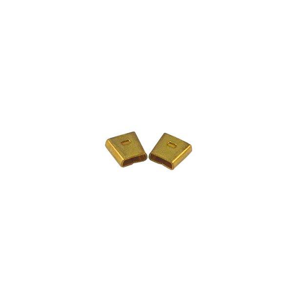 01-0027 - Pacote com 1000 Terminais Quadrados em Latão 9mmx8mm