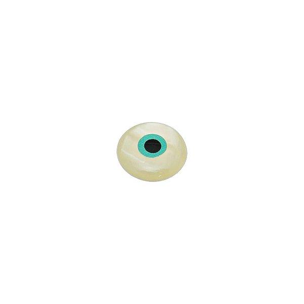 12-0255 - Pacote com 100 Madrepérolas Chaton Olho Grego 13mm