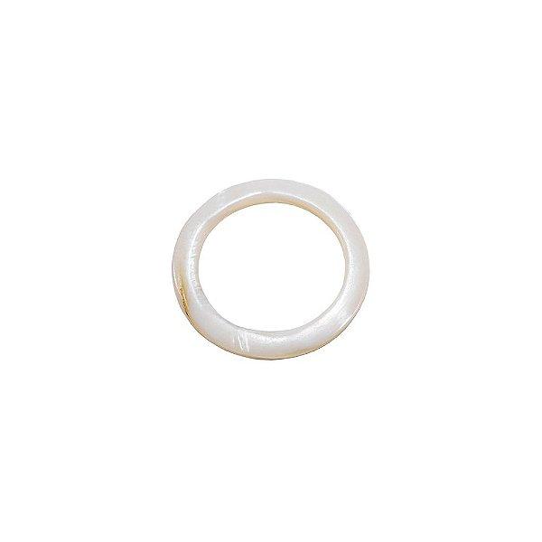 12-0181 - Pacote com 1000 Madrepérolas Marfim Argola Fina 30mm