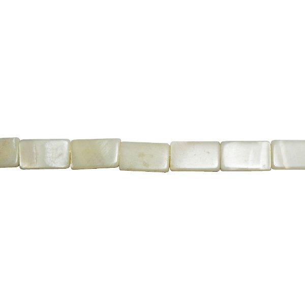 12-0177 - Fio de Madrepérolas Marfim Retangular 10mmx16mm