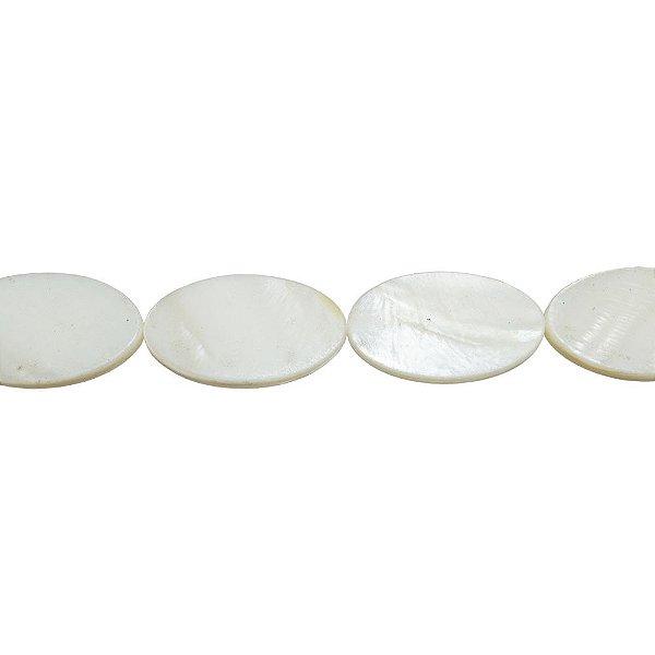 12-0176 - Fio de Madrepérolas Marfim Oval 15mmx25mm