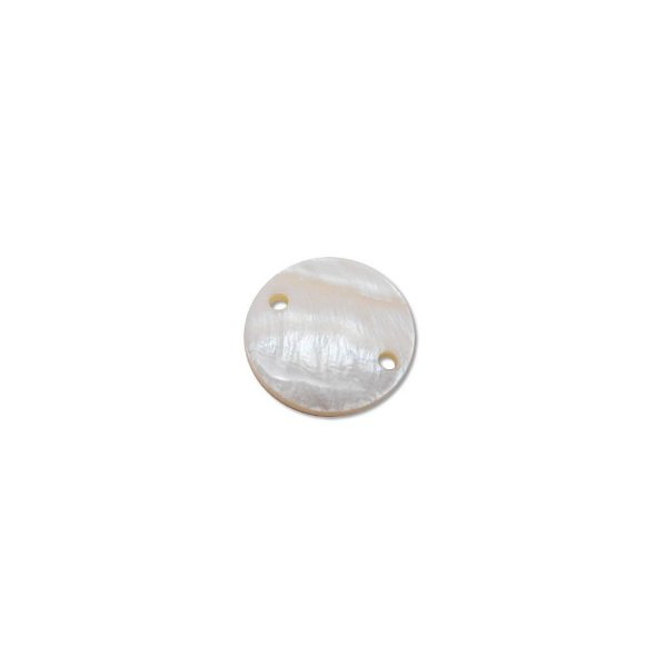 12-0023 - Pacote com 1000 Madrepérolas Marfim Redondas com 2 Furos 18mm