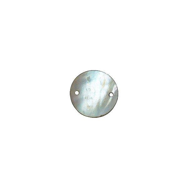 12-0016 - Pacote com 1000 Madrepérolas Furta-cor Redondas Abauladas com 2 Furos 16cm