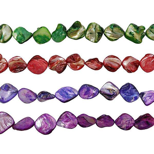 12-0008 - Fio de Madrepérola Colorida Irregular