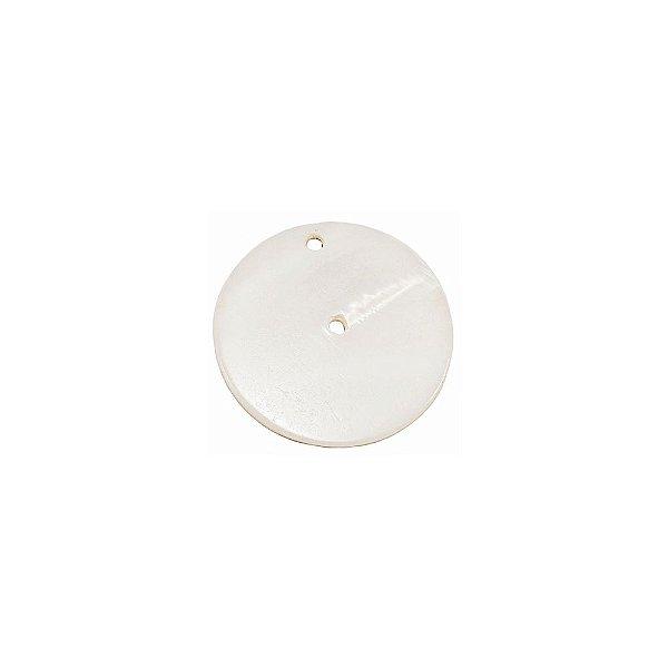 12-0235 - Pacote com 1000 Madrepérolas Marfim Redondas com 2 Furos 28mm