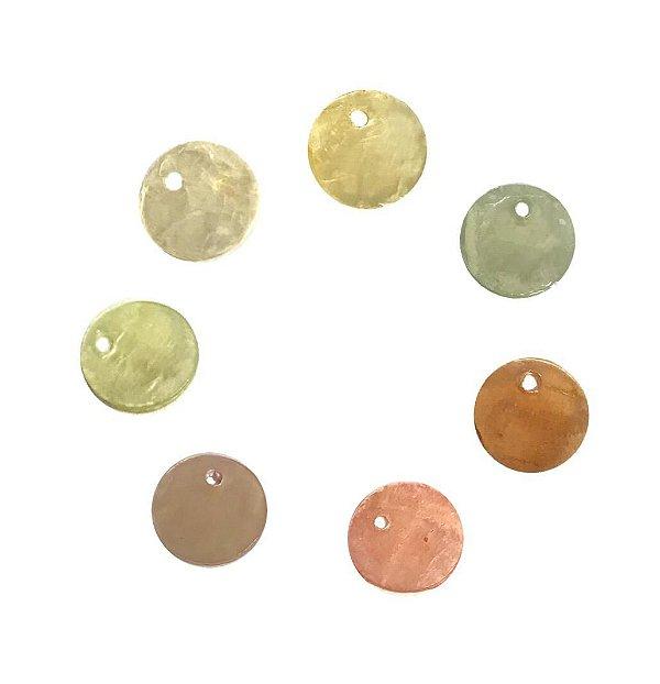 12-0070 - Pacote com 1000 Madrepérolas Coloridas Redondas com 1 Furo 10mm